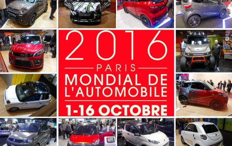 Minicar in scena al Salone dell'Automobile di Parigi