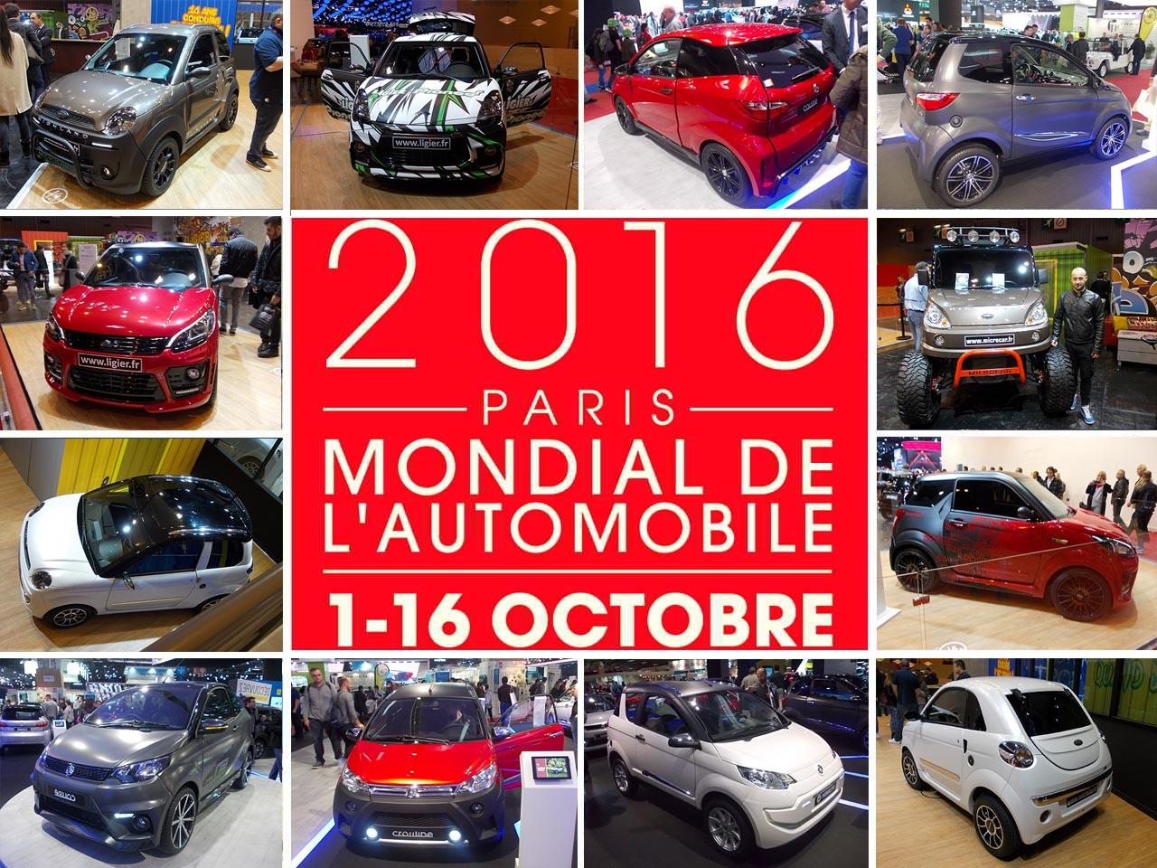 Minicar in scena al Salone dell'Automobile di Parigi