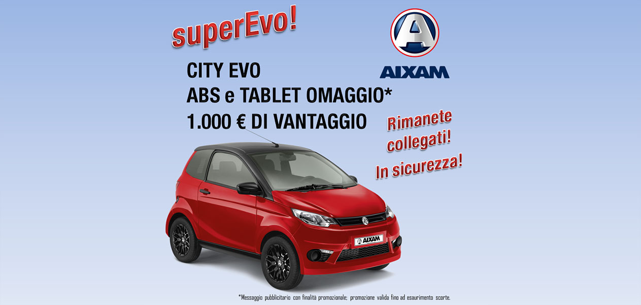 Promozione AIXAM City Coupé EVO Tablet ABS