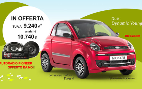 OFFERTA Microcar Dué Dynamic Young Euro 4