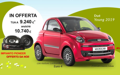 OFFERTA Microcar Dué Young 2019
