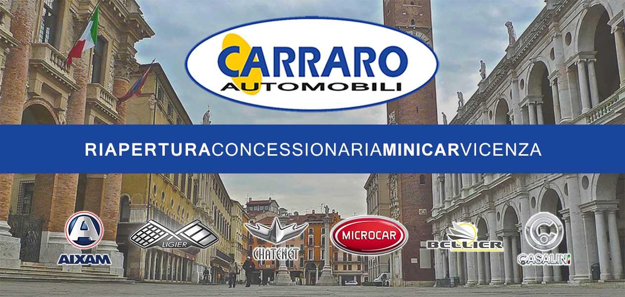 Carraro Automobili riapre a Vicenza