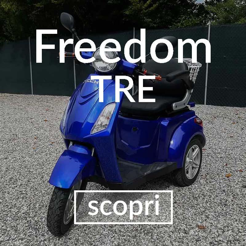 veicoli elettrici - scooter 3 ruote anziani disabili senza patente