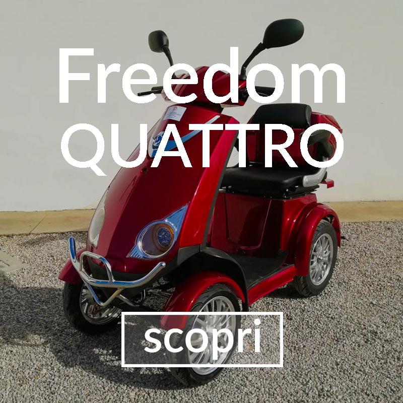 veicoli elettrici - scooter 4 ruote anziani disabili senza patente